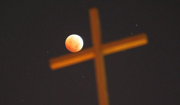 Blood Moon and Cross