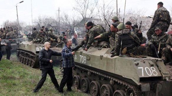 Ukraine Military massing to attack protesters