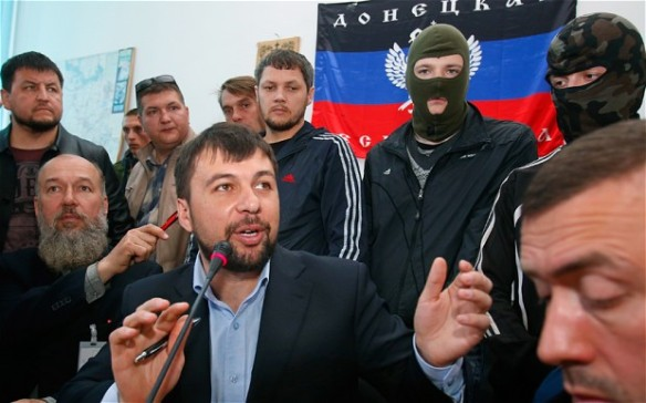 Ukraine pro-Russian forces Donetsk, led by Denis Pushilin