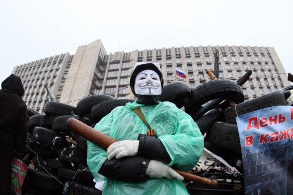 Anonymous Ukraine stands with Pro-Russian Protesters
