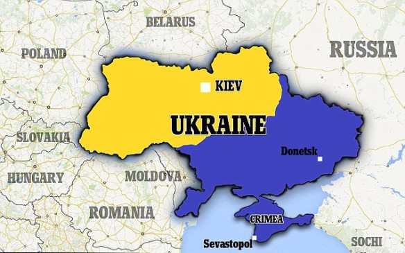 Ukraine and surrounding countries