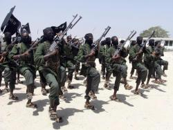 al-Shabab fighters wearing cheap sandals