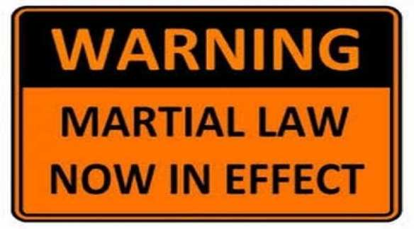 Martial Law sign