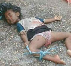 Muslims beheaded this small child