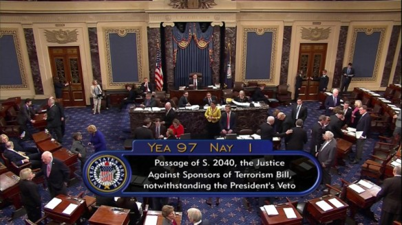 Congress votes against Obama 9/11 veto